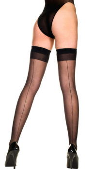 Black Thigh High Stockings by Baci