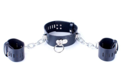 Bondage Collar with handcuffs by Wicked Rabbit