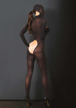 Hooded Open Cup Crotchless Bodystocking by Leg Avenue