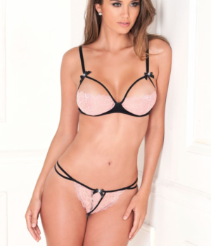 Sweetie Pie Crotchless Bra Set by Rene Rofe