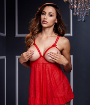 Red Cupless Babydoll by Baci