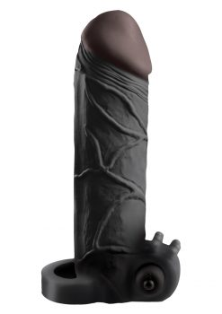 "2"" Black Vibrating Cock Extender by Pipedream"
