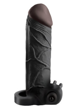 """2"""" Black Vibrating Cock Extender by Pipedream"""