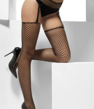 Fishnet Suspender Belt with Stockings by Fever