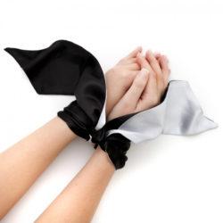 Fifty Shades of Grey Satin Wrist Tie
