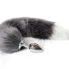Grey Fox Tail Butt Plug by Wicked Rabbit