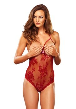 Lace Open Cup Teddy by Leg Avenue