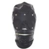 Lace Up Gimp Mask with Zip Up Mouth & Eye Mask by Wicked Rabbit
