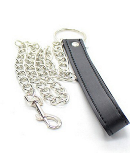 Faux Leather Collar with Leash by Wicked Rabbit