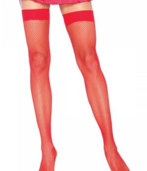 Red Fishnet Thigh Highs by Leg Avenue