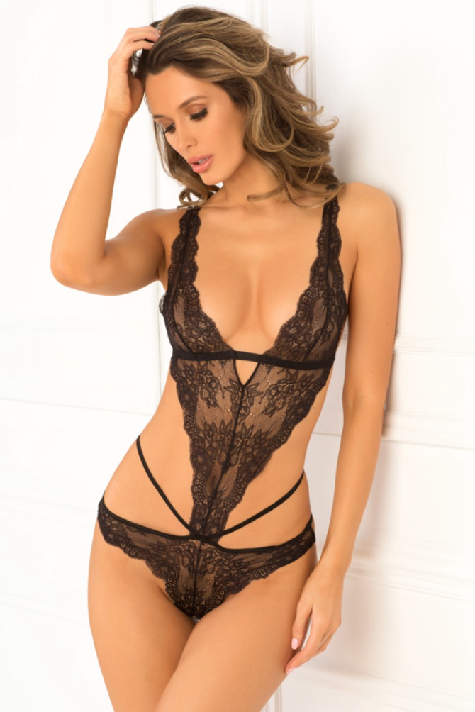 No Mercy Lace Teddy by Rene Rofe