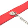 Red Bondage Collar with Leash by Wicked Rabbit