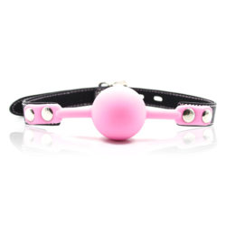 Pink Silicone Ball Gag by Wicked Rabbit