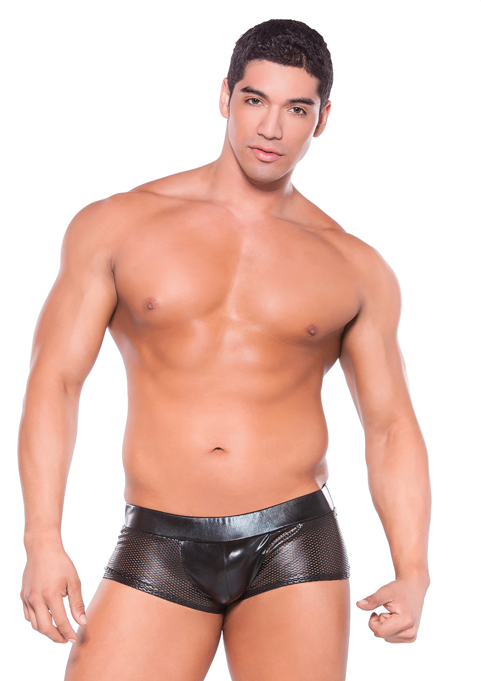 Wet Look Mesh Shorts by Allure